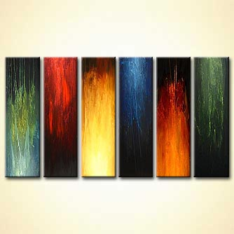 modern abstract art - Fire-Water-Wind-Earth