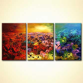 Floral painting - Fields of Beauty