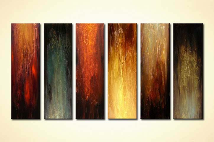 Painting large vertical multi panel canvas 4159 for Vertical wall art
