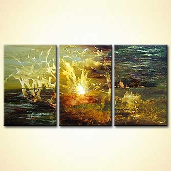 modern abstract art - Sunset on Epsilon 5