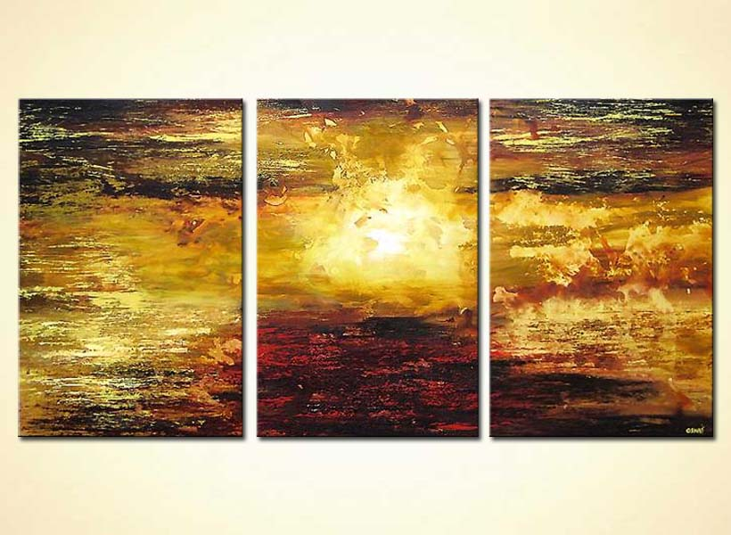 Painting For Sale Abstract Sunrise Canvas Landscape 4230