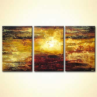 abstract sunrise canvas landscape