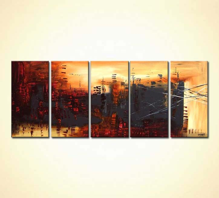 modern abstract art - The Invasion to Cyber City