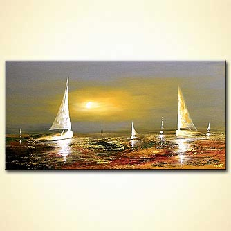 Seascape painting - Guardian of the Horizon