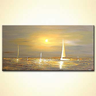 Seascape painting - Free Spirits
