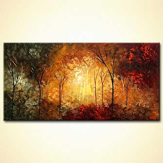 Forest painting - Crimson Wind