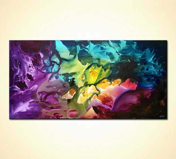Colorful Abstract Canvas Art Abstract Art Colorful