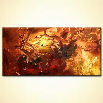 Abstract painting - The Hidden World