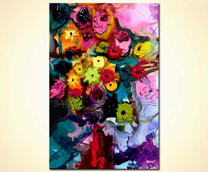 modern abstract art - Dancing with Rose and Lilac