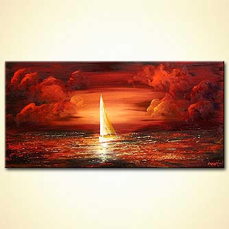 Seascape painting - Lonely no More