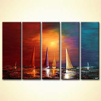 Seascape painting - Full Sail