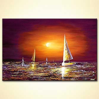 Seascape painting - Captain of My Ship