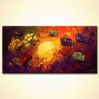 abstract landscape painting floral colorful
