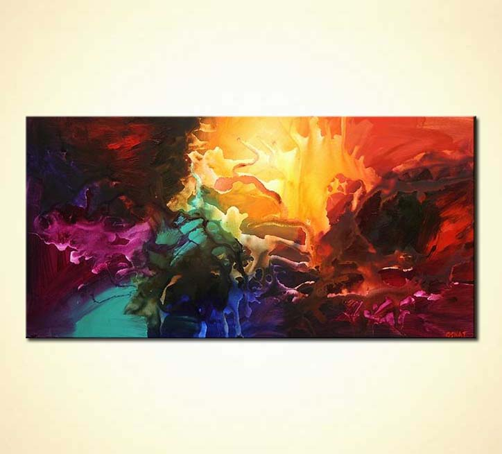 Painting bold colorful modern painting splash 4348 for Most beautiful abstract art