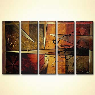 Abstract painting - Only Forward
