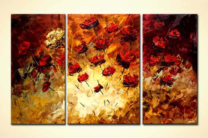 Painting For Sale Multi Panel Canvas Floral Summer
