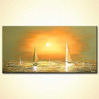 Seascape painting - The White Winds