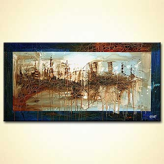 Cityscape painting - Busy City