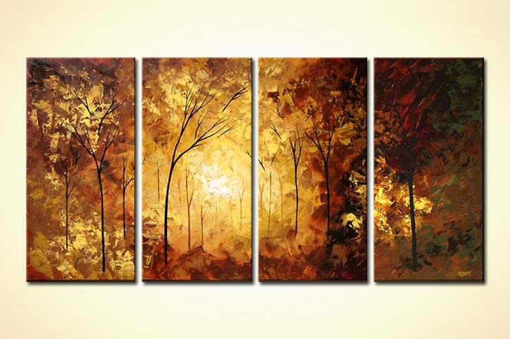 Painting For Sale Multi Panel Canvas Landscape Forest