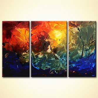 Abstract painting - Starbirth