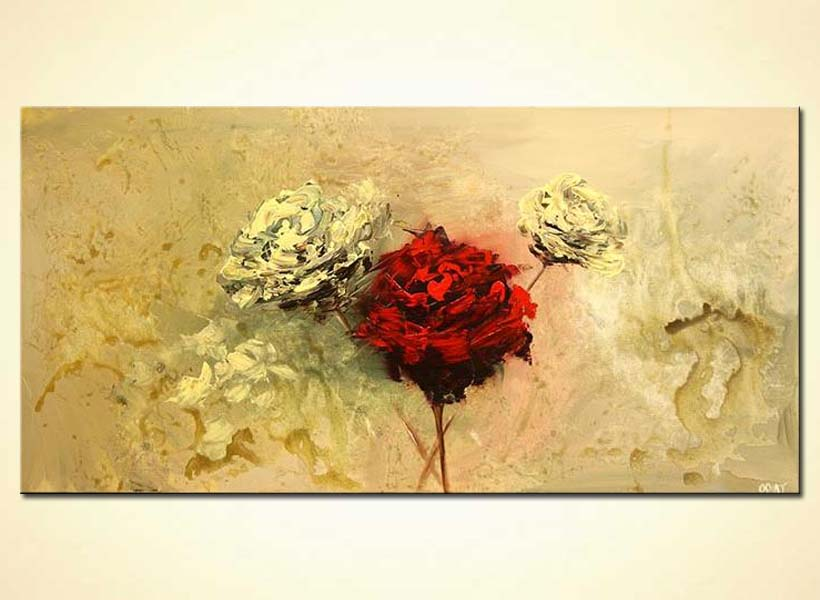 large roses painting