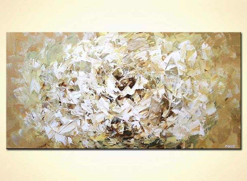 Painting large white flower soft abstract art 4356 abstract artwork mightylinksfo Images