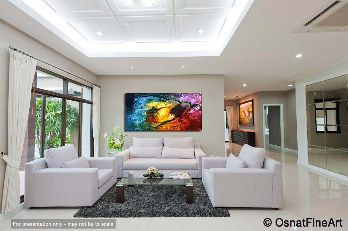 Painting - large colorful abstract painting home decor #4413