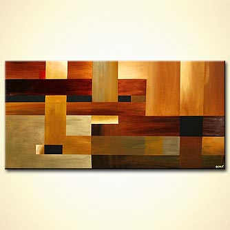 large geometrical earth tones home decor
