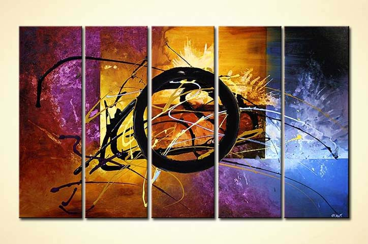 painting large modern painting multi panel colorful