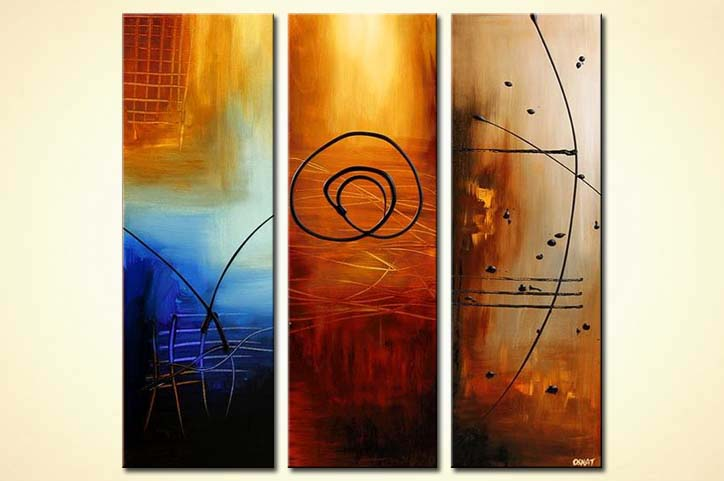 modern abstract art - Three Wishes