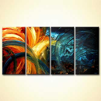 original abstract home decor painting colorful