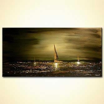 modern abstract art - Golden Moments