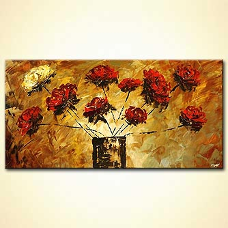 canvas print - Loving Rose