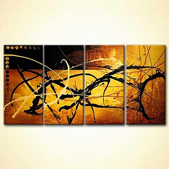 modern abstract art - Gold Rush