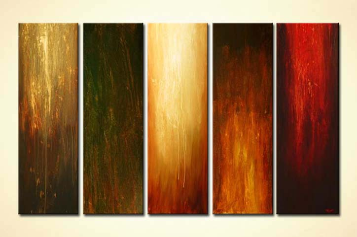 painting large vertical modern painting multi panel 4511