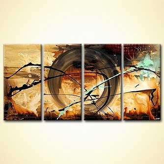 Abstract painting - Wheel of Time