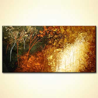 Forest painting - Mystic River