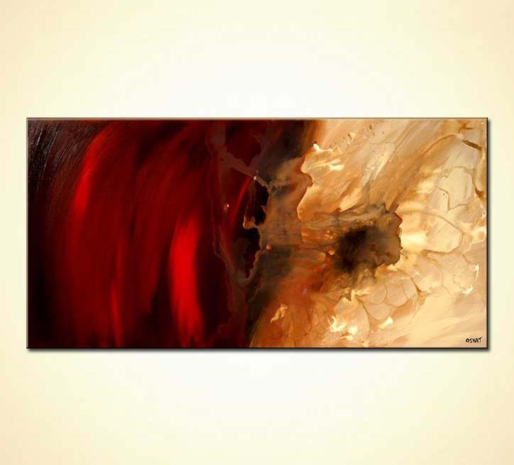Red Large Abstract Painting