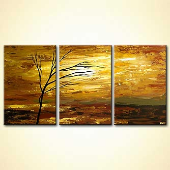 Landscape painting - Waking up at Sunrise