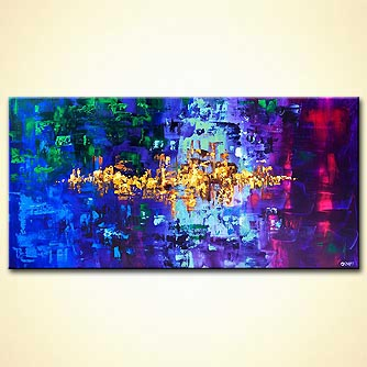 Abstract painting - Emerald City