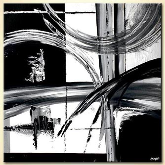 modern abstract art - Black on White