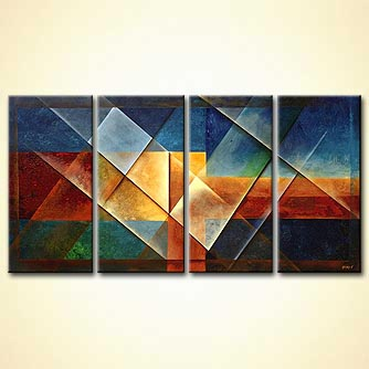 Abstract painting - Rainbow Bridge