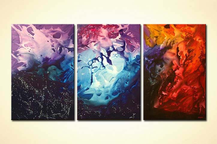 Painting For Sale Colorful Canvas Art Triptych