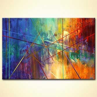 Abstract painting - The Road to Infinity