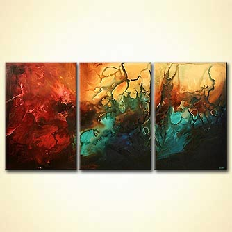 Abstract painting - The Fifth Planet