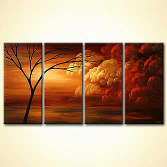 Landscape painting - Golden Moments