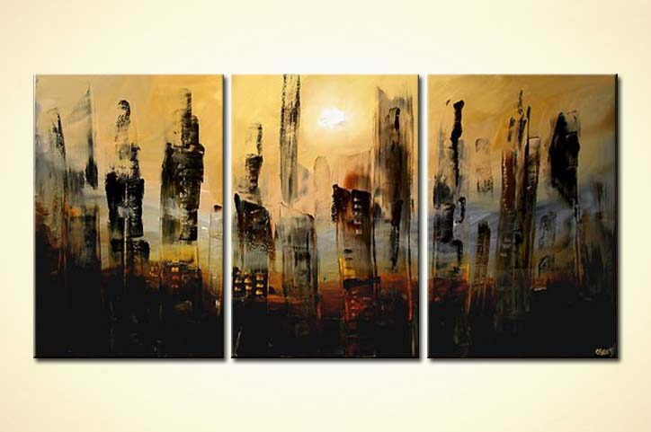 Painting For Sale Abstract City Painting Skyscrapers