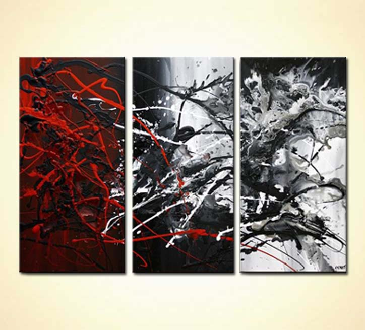 black and white abstract paintings pictures to pin on