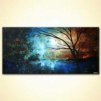 Landscape painting - Moon Tide