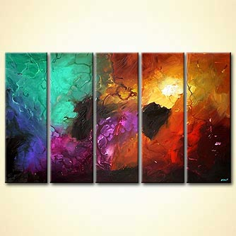 Abstract painting - Virtual Light
